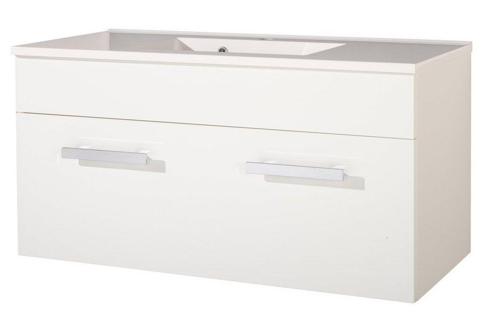Kesper Waschtisch »Ibiza«, Breite 100 cm, (2-tlg.) in weiß