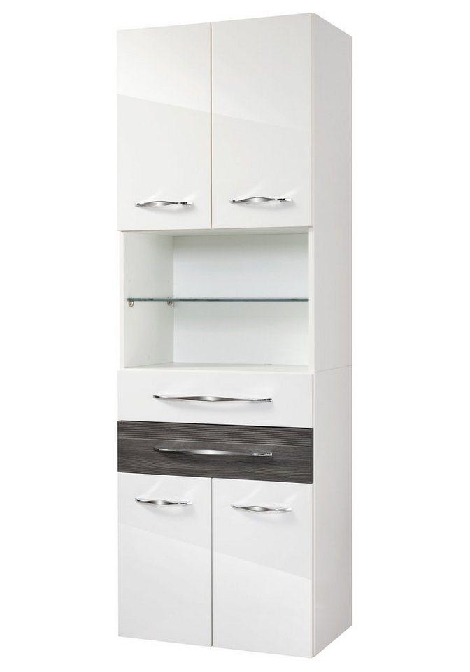 Hochschrank »Sceno«, Breite 60 cm in piniefarben anthrazit/weiß