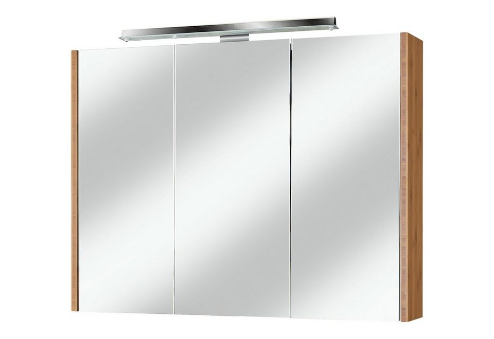 spiegelschrank bambus breite 90 cm mit led beleuchtung. Black Bedroom Furniture Sets. Home Design Ideas