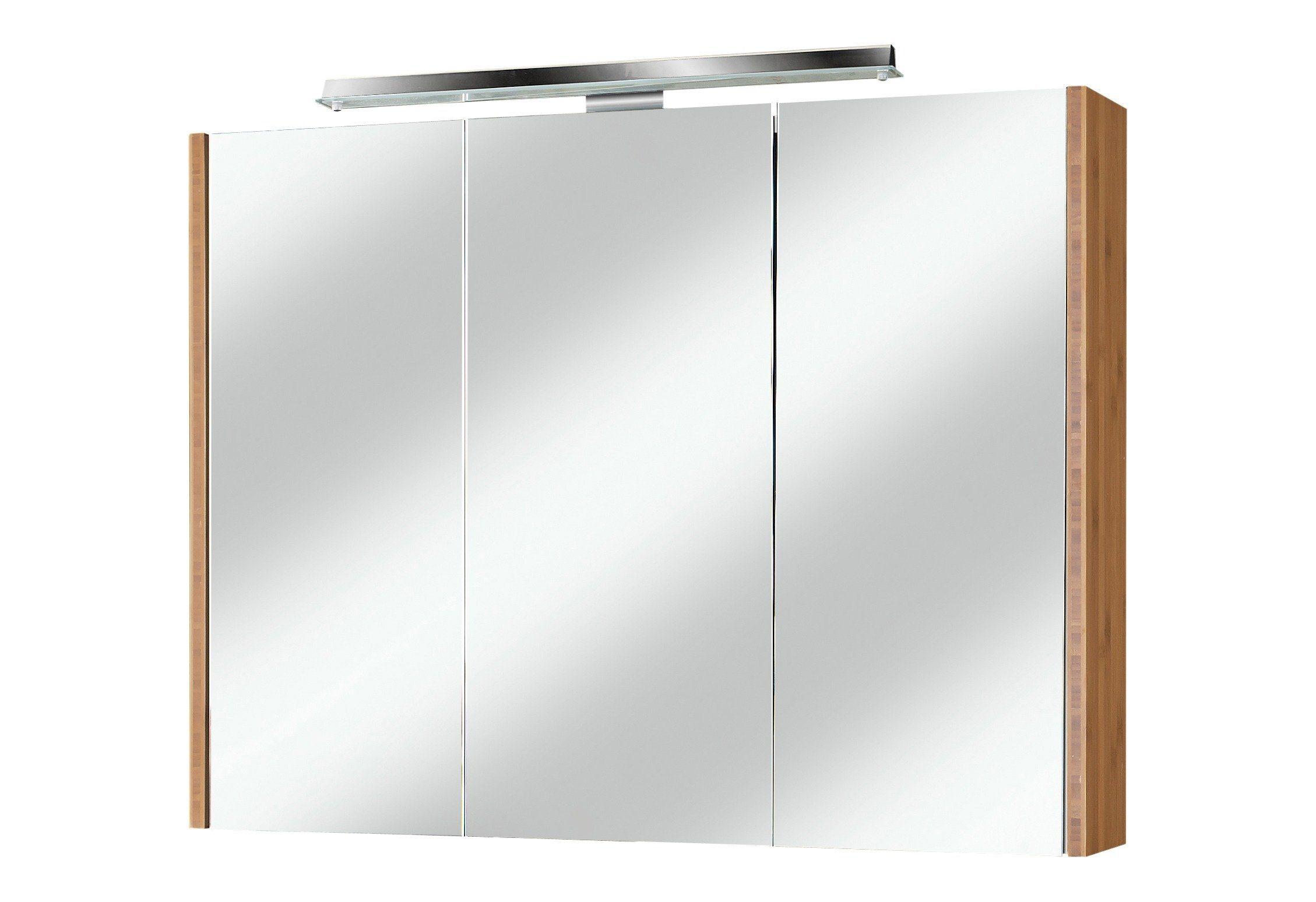 Schildmeyer Spiegelschrank »Bambus« Breite 90 cm, mit LED-Beleuchtung