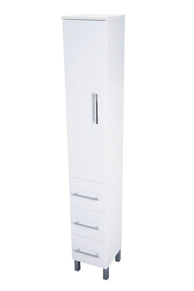 Hochschrank »Malmö«, Breite 30 cm in weiß/weiß