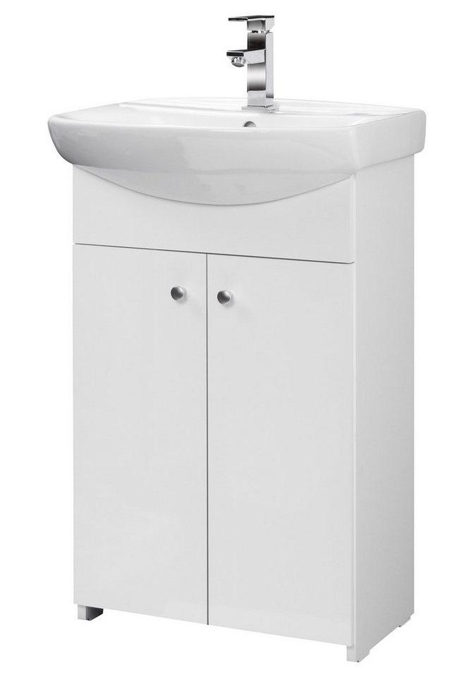 Waschtisch »Maxi 2«, Breite 55 cm, (2-tlg.) in weiß