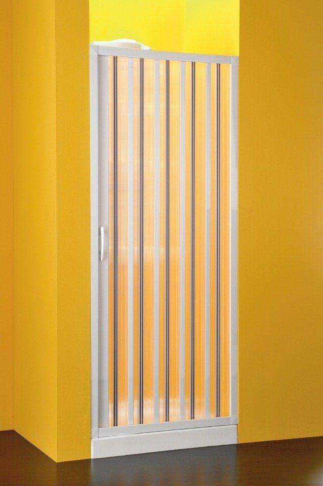 Nischentür »mit Falttürsystem«, Duschtür mit Verstellbereich von 98-102 cm in weiß
