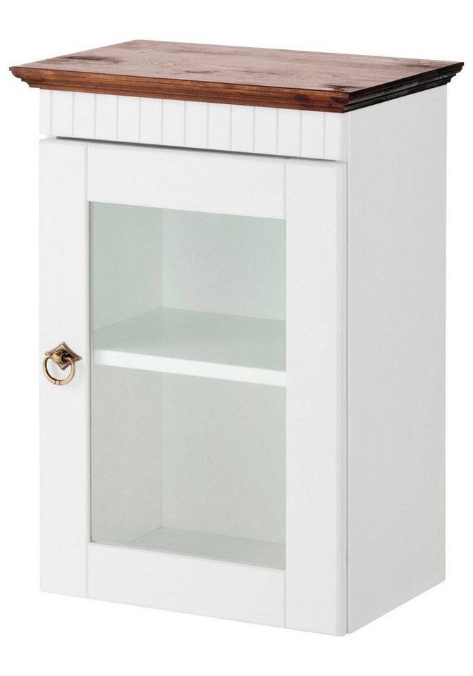 Hängeschrank »Schweden«, Breite 34 cm in weiß/weiß/braun