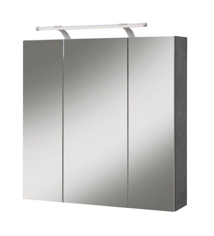Schildmeyer Spiegelschrank »Quadra« 70 cm in steingrau