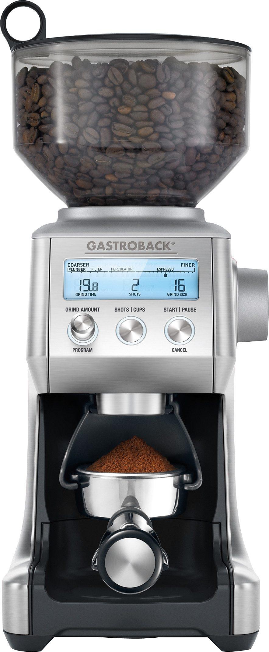 Gastroback Kaffeemühle Advanced Pro 42639, 165 W, Kegelmahlwerk, 450 g Bohnenbehälter, inkl. Siebträgeradapter