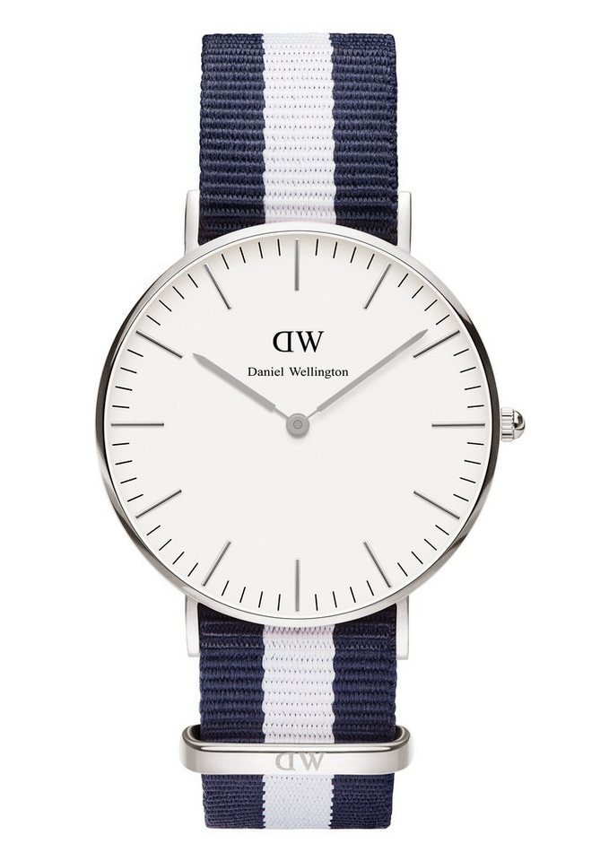 Daniel Wellington Quarzuhr »Classic Glasgow, 0602DW« in blau-weiß