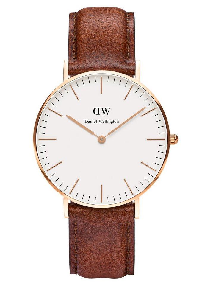 Daniel Wellington Quarzuhr »Classic St. Mawes, 0507DW« in cognac