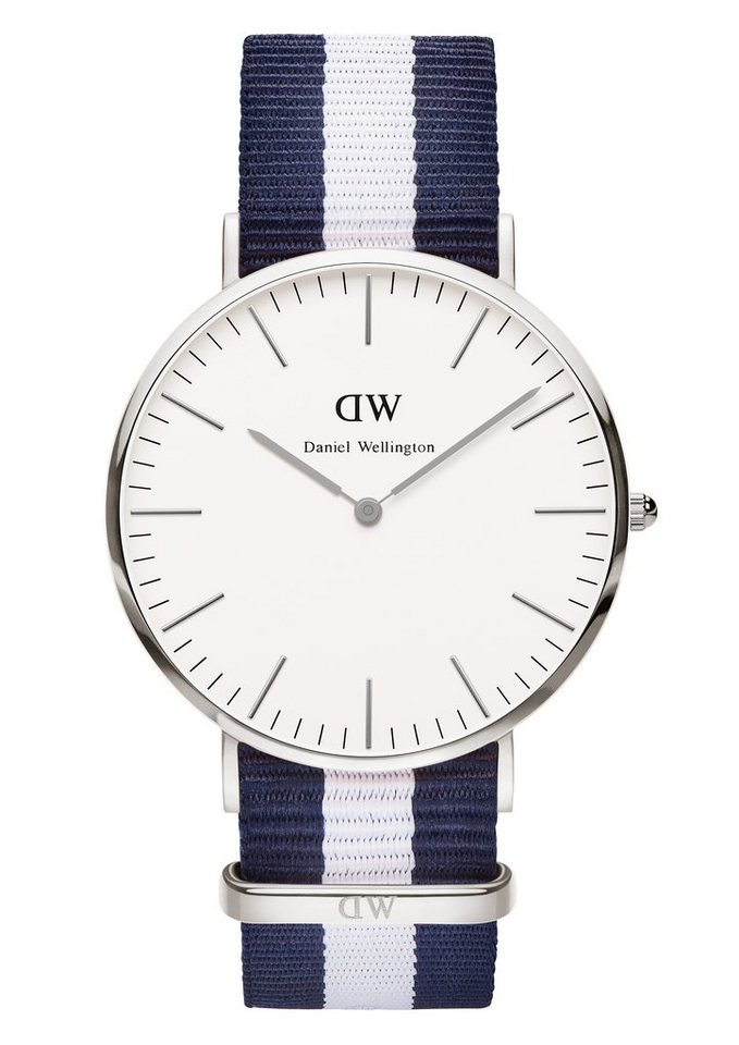 Daniel Wellington Quarzuhr »Classic Glasgow, 0204DW« in blau-weiß