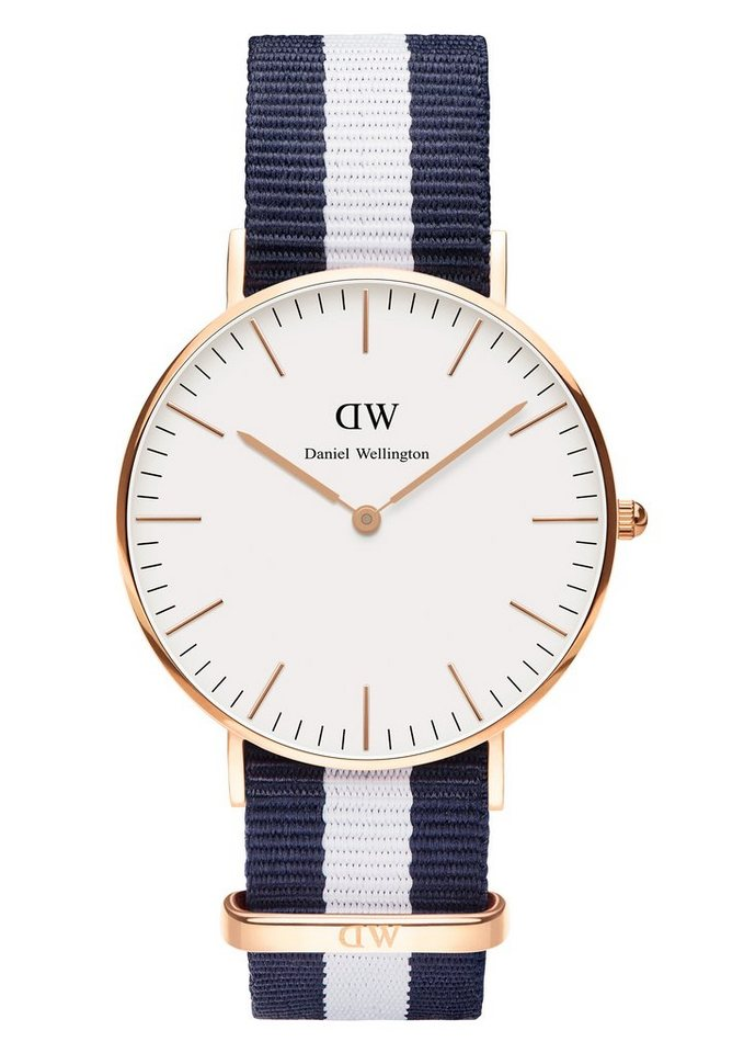 Daniel Wellington Quarzuhr »Classic Glasgow, 0503DW« in blau-weiß
