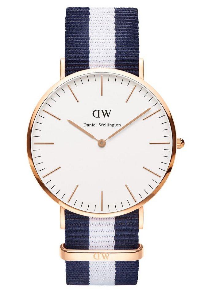 Daniel Wellington Quarzuhr »Classic Glasgow, 0104DW« in blau-weiß