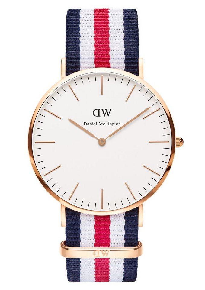Daniel Wellington Quarzuhr »Classic Canterbury, 0102DW« in blau-weiß-rot