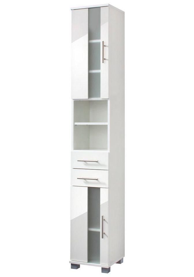 Hochschrank »Julia«, Breite 30 cm in weiß/weiß
