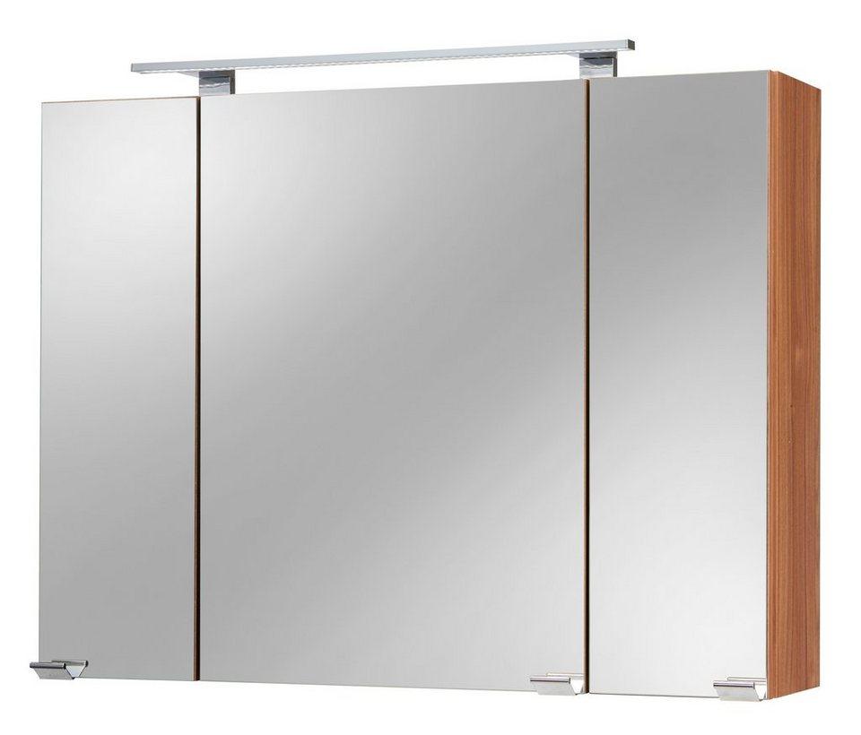 spiegelschrank lucca breite 90 cm mit led beleuchtung online kaufen otto. Black Bedroom Furniture Sets. Home Design Ideas