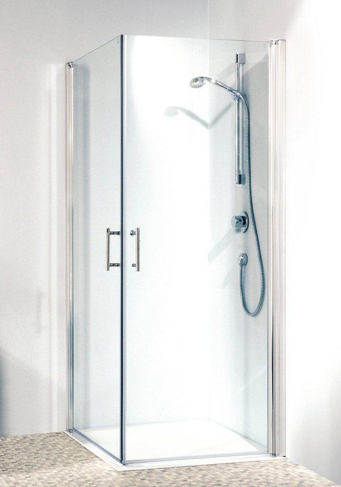 Eckdusche »Relax«, 80cm x 80cm in alufarben