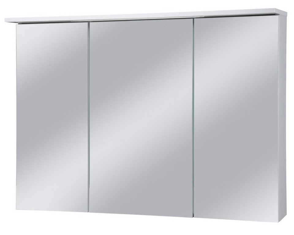 Schildmeyer Spiegelschrank »Profil« Breite 100 cm, mit LED-Beleuchtung in weiß