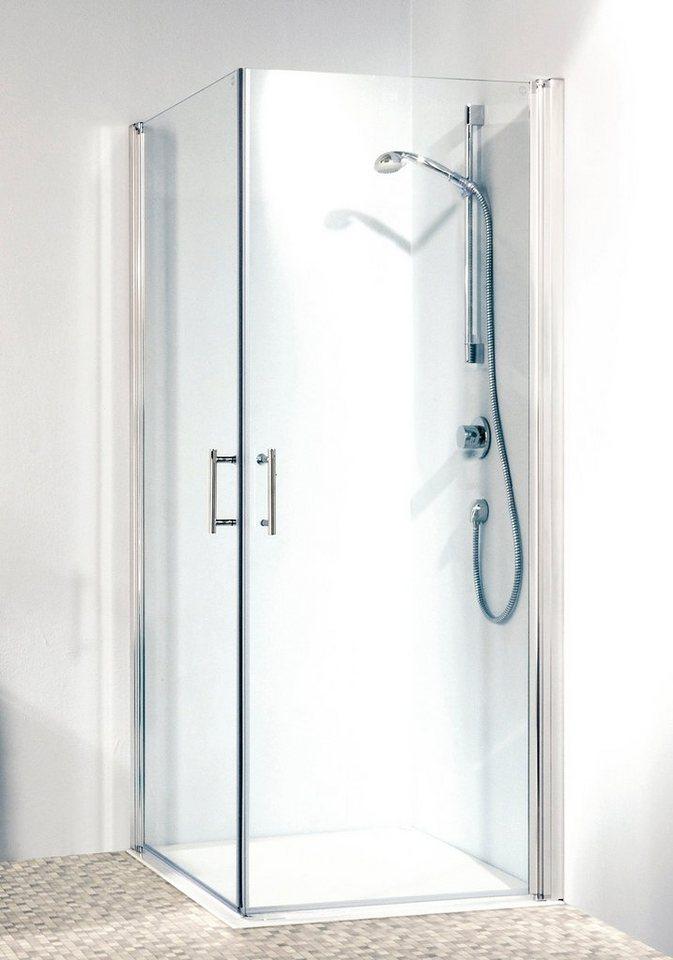 Eckdusche »Relax«, 90cm x 90cm in alufarben