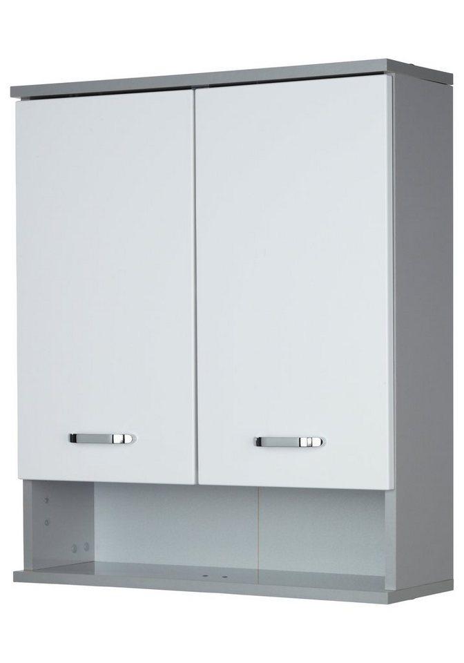 Schildmeyer Hängeschrank »Dallas«, Breite 60 cm in weiß/silberfarben
