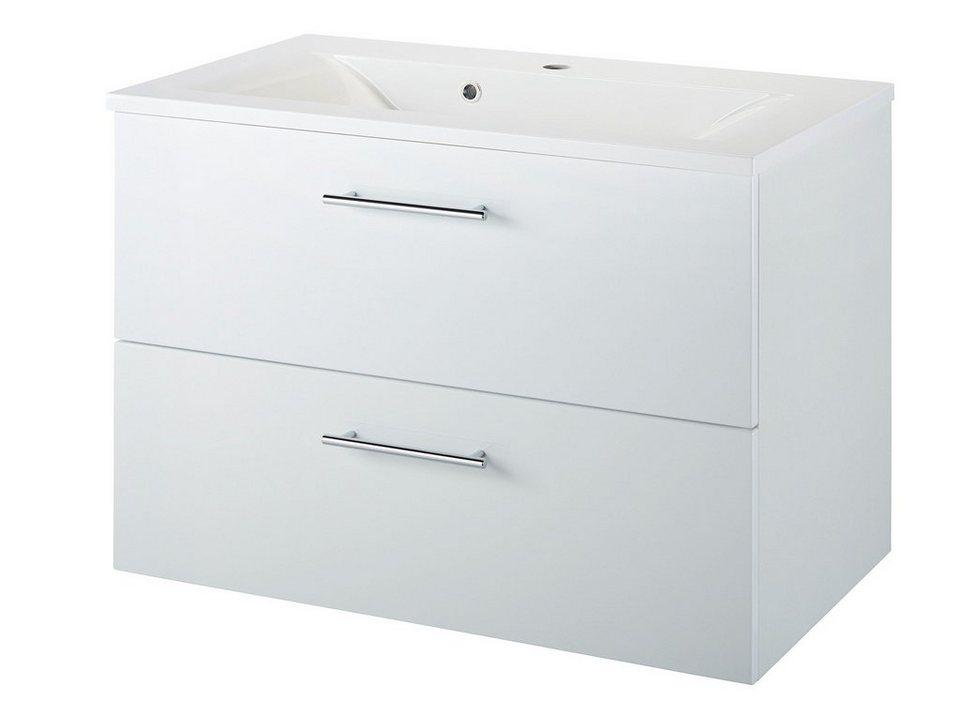 Waschtisch »Malmö«, Breite 80 cm, (2-tlg.) in weiß