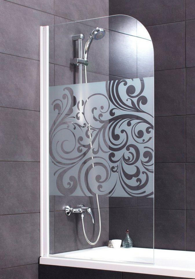 Badewannenaufsatz »Floral« in weiß