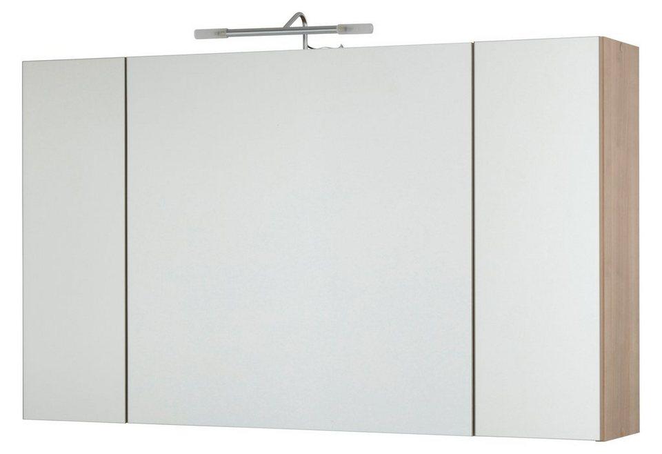 Spiegelschrank »Malmö« Breite 100 cm, mit LED-Beleuchtung in nussbaumfarben