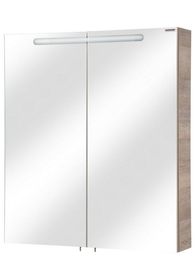 Fackelmann Spiegelschrank »A-Vero« Breite 70 cm, mit Beleuchtung in eichefarben grau x eichefarben
