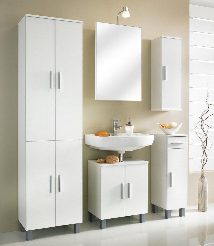 spiegelschrank monaco breite 50 cm mit beleuchtung online kaufen otto. Black Bedroom Furniture Sets. Home Design Ideas