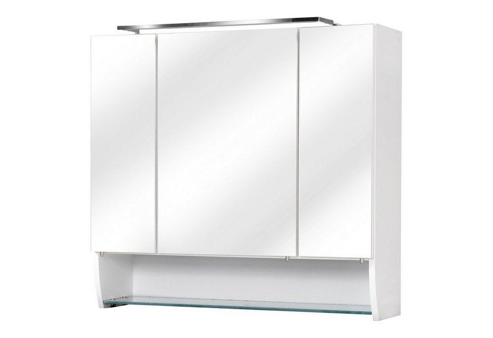 Spiegelschrank »Sceno« Breite 80 cm, mit LED-Beleuchtung  in weiß
