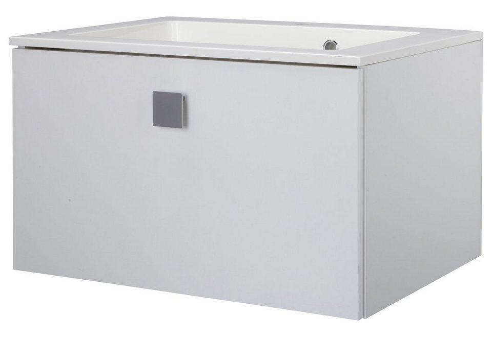 Waschtisch »Qaudra«, Breite 65 cm, (2-tlg.) in weiß x weiß