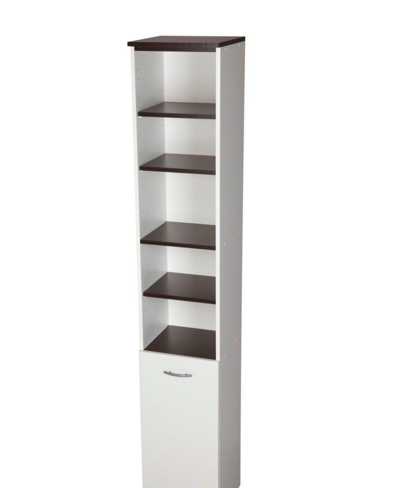 Hochschrank »Venedig« 33 cm in weiß/wengefarben