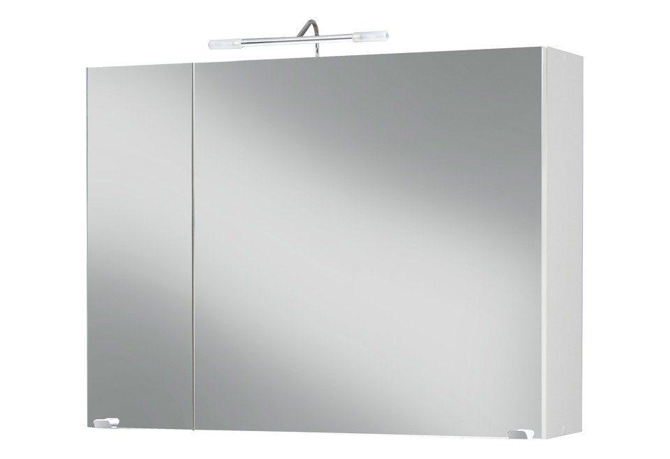 Spiegelschrank »Malmö« Breite 80 cm, mit Beleuchtung in weiß