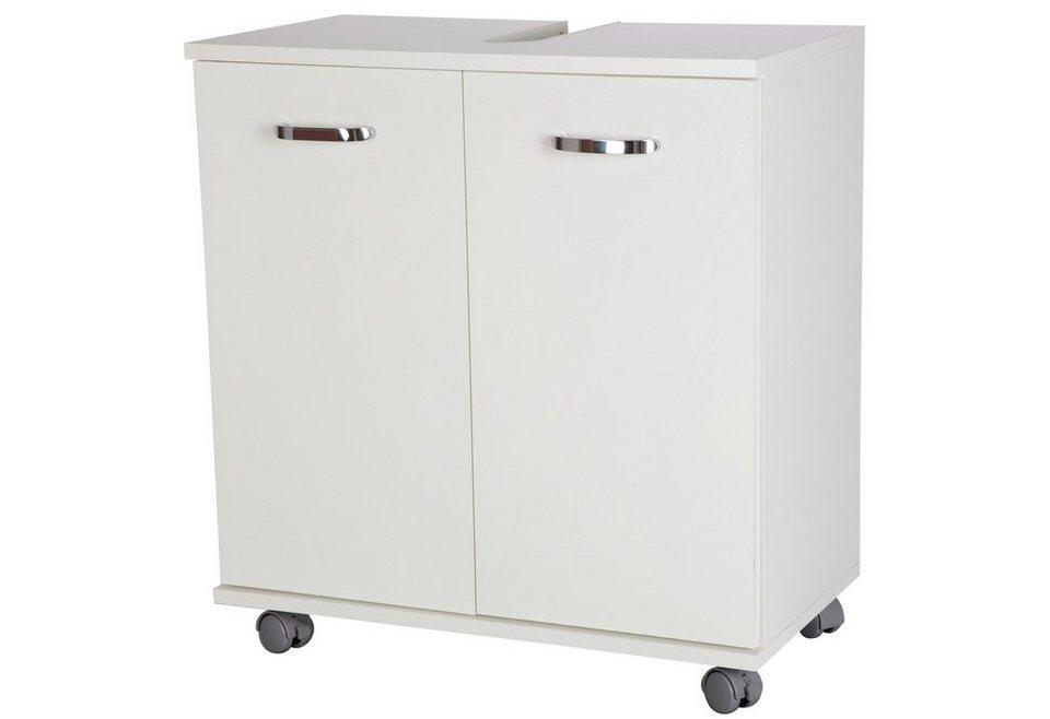 SCHILDMEYER Waschbeckenunterschrank »Bologna«, Breite 60 cm in weiß/weiß