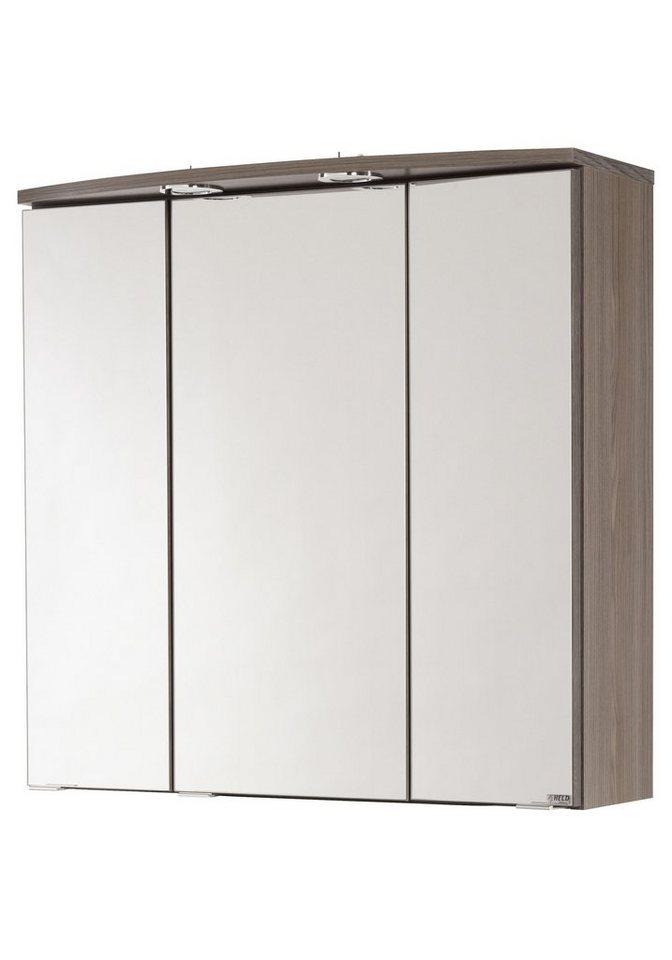 Spiegelschrank »Marinello« Breite 70 cm, mit Beleuchtung in eichefarben dunkel