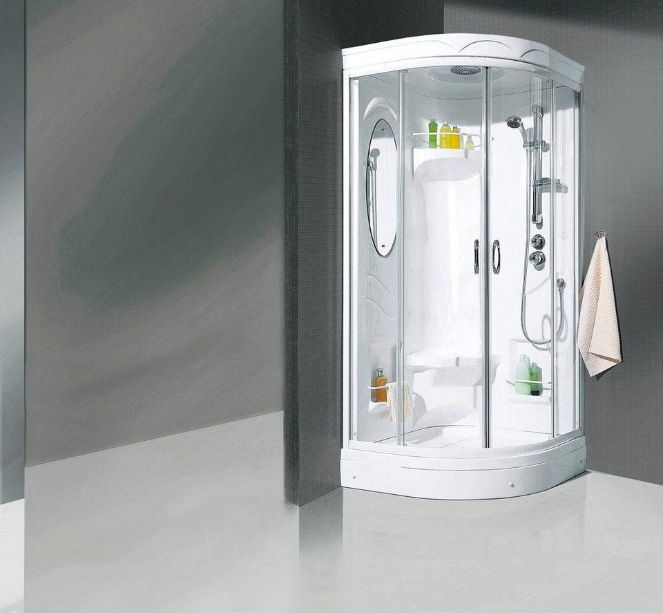 Fertigdusche »Anna«, 92cm x 92cm in weiß