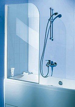 Badewannenaufsatz »Einfach ohne Bohren« in alufarben