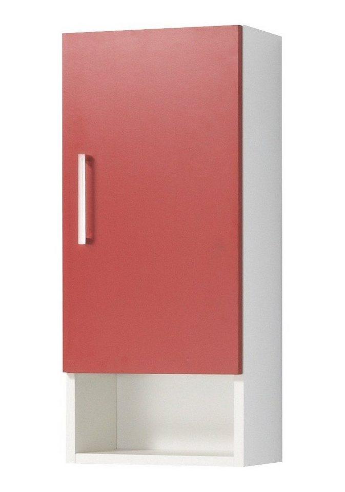 Hängeschrank »Barcelona«, Breite 30 cm in rot/weiß