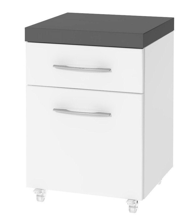 Badezimmer-Unterschrank »Merida« 40,2 cm in anthrazit/weiß