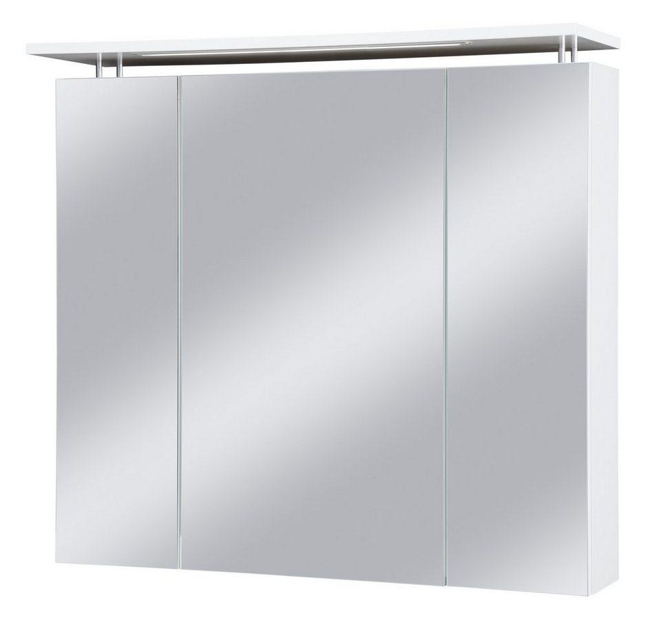 Schildmeyer Spiegelschrank »Profil« Breite 80 cm, mit LED-Beleuchtung in weiß