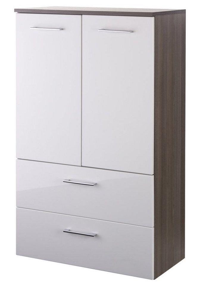 Midischrank »Marinello« 70 cm in weiß/eichefarben dunkel