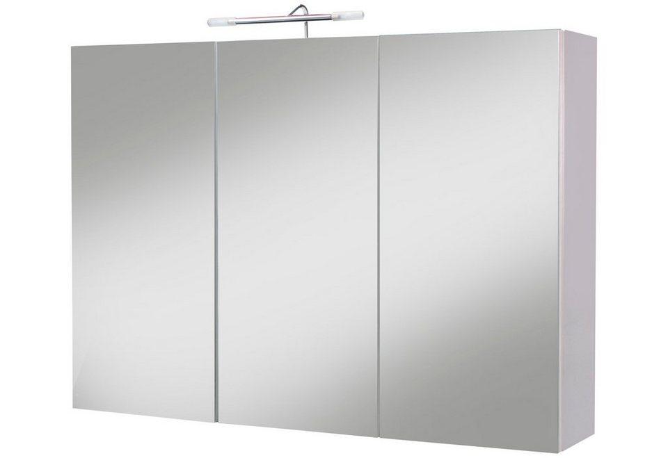 spiegelschrank sina breite 98 cm mit beleuchtung online kaufen otto. Black Bedroom Furniture Sets. Home Design Ideas