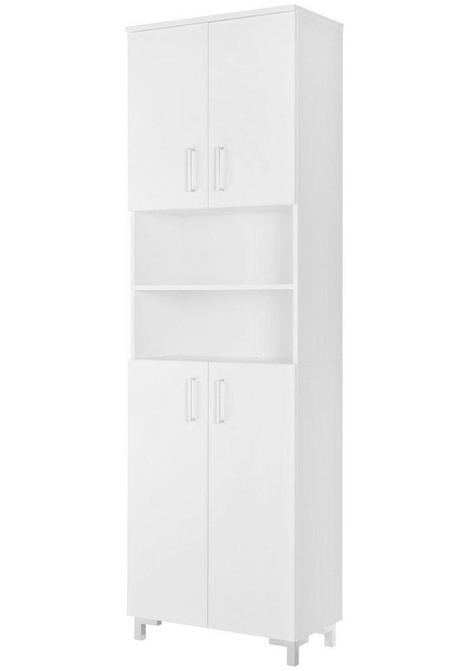 Fackelmann Hochschrank »Atlanta«, Breite 60,5 cm in weiß