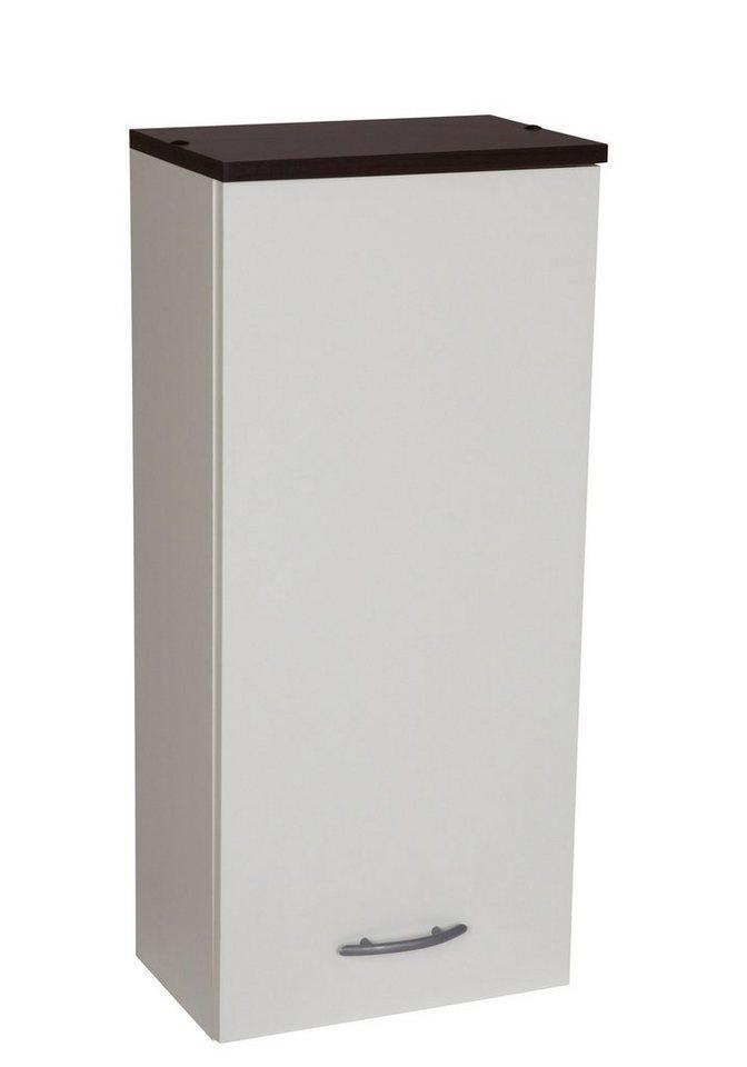 Hängeschrank »Venedig« 33 cm in weiß/wengefarben