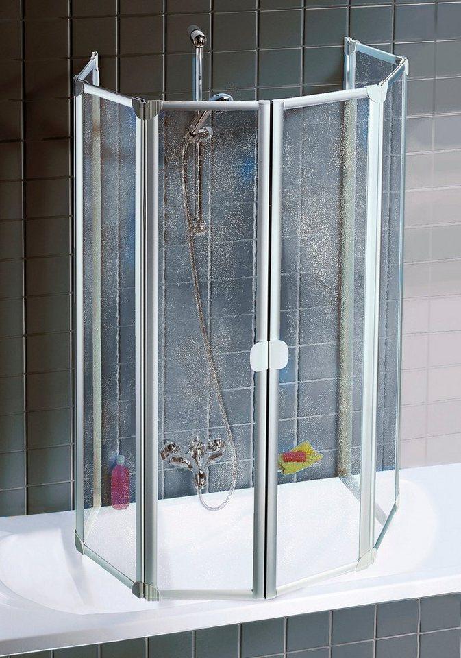 Schulte wannenfaltwand einfach ohne bohren otto for Duschabtrennung badewanne
