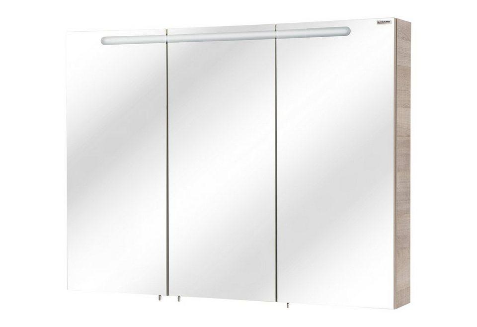 Fackelmann Spiegelschrank »A-Vero« Breite 105 cm, mit Beleuchtung in eichefarben grau