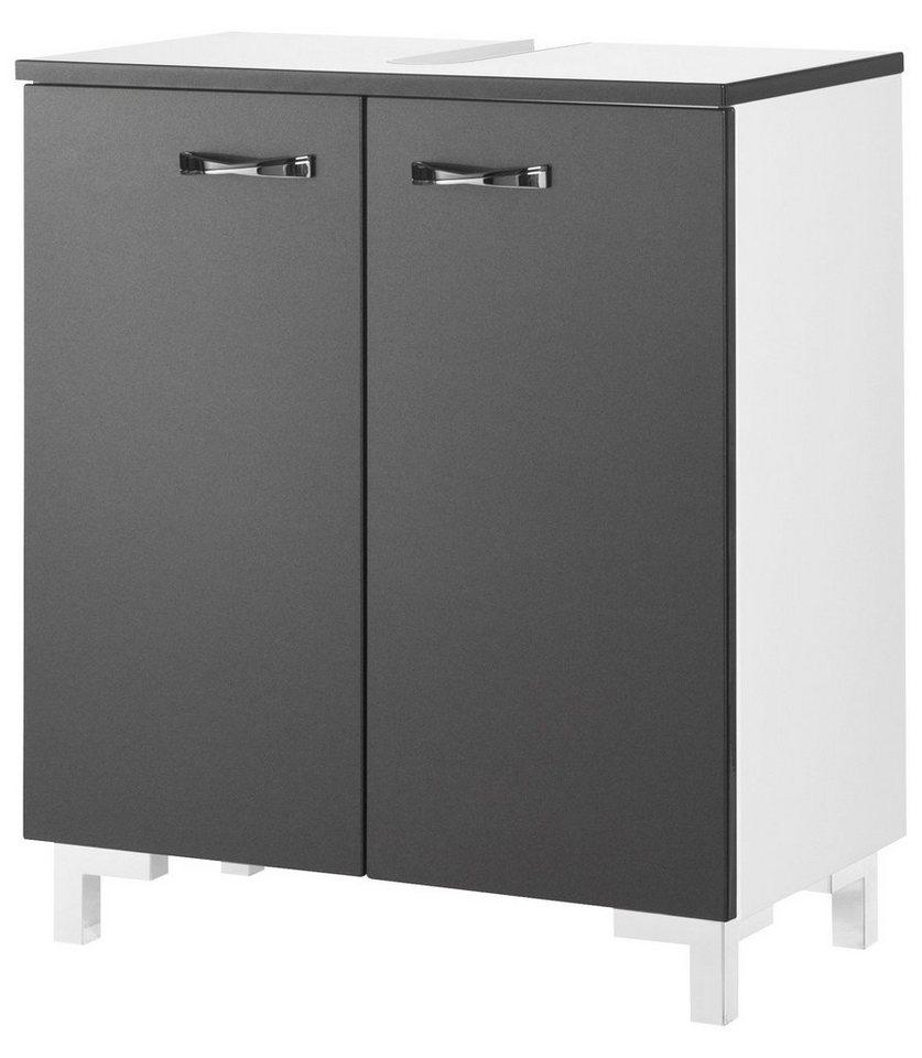 Fackelmann Waschbeckenunterschrank »Montreal« in graphitfarben/weiß