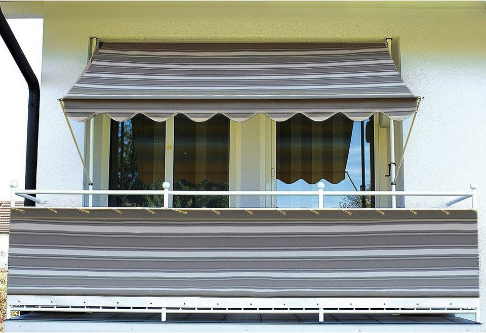 Balkonsichtschutz »Polyacryl, anthrazit« in 2 Höhen in grau