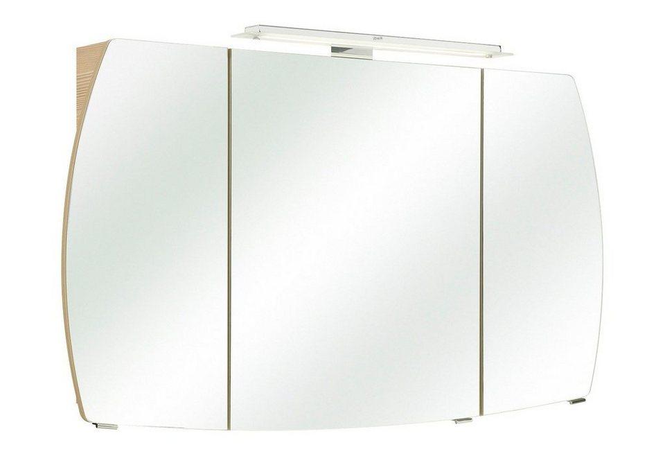 Spiegelschrank »Tiva« Breite 126 cm, mit LED-Beleuchtung in piniefarben honig