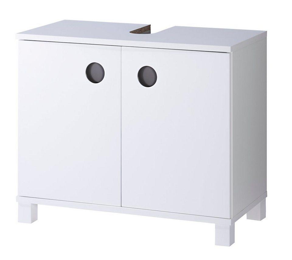 Waschbeckenunterschrank »Bermuda«, Breite 66 cm in weiß/grau