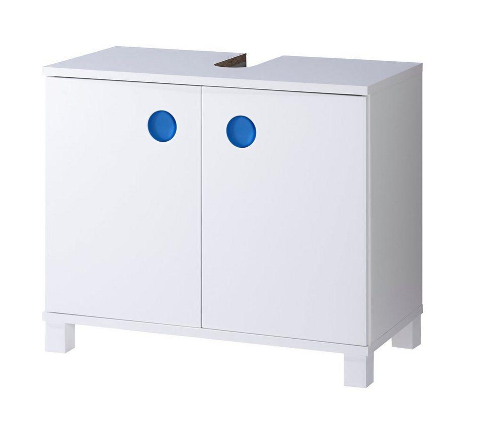 Waschbeckenunterschrank »Bermuda« in weiß/blau