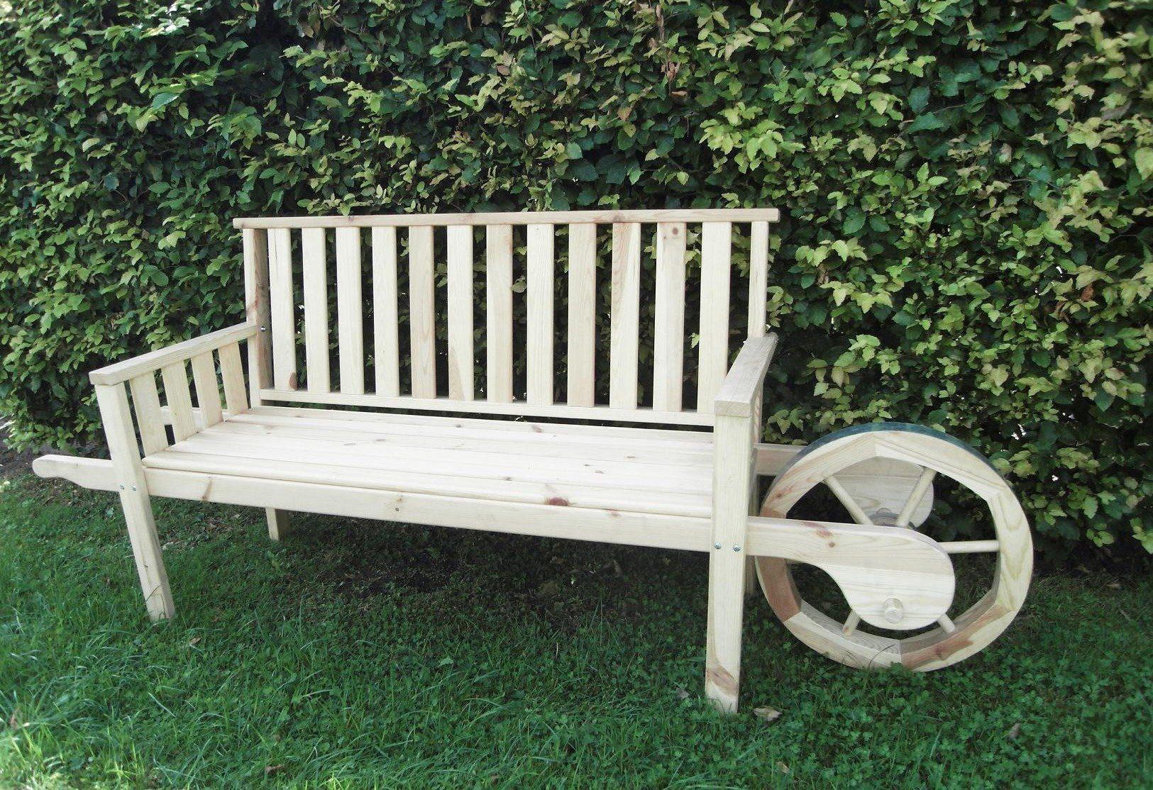 PROMADINO Gartenbank , Kiefernholz, 215x56x89 cm, beige